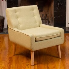 Kasey Tufted Fabric Retro Arm Chair
