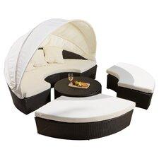 Goleta Cabana / Canopy 4 Piece Set with Cushions