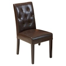 Autry Bonded Leather Dining Chair (Set of 2)