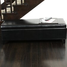 Bailey Bonded Leather Storage Ottoman Bench