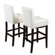 Classic Leather Bar Stool (Set of 2)