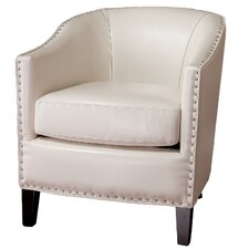 Starks Leather Studded Club Chair