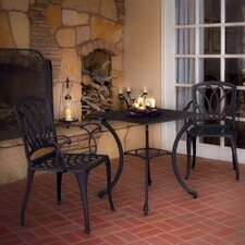 Stephanie 3 pc Cast Aluminum Outdoor Dining Set