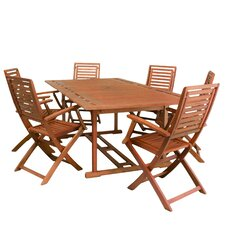 Francis 7pc Outdoor Wood Dining Set