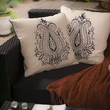 Embroidered Paisley Pillow (Set of 2)