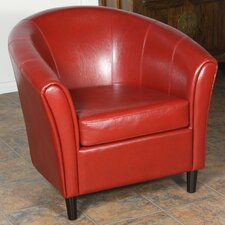 Manchester Bonded Leather Barrel Chair