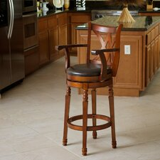"<strong>Home Loft Concept</strong> Eclipse 30.5"" Swivel Bar Stool with Cushion"