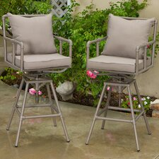 Ablert Iron Pipe Outdoor Adjustable Barstool (Set of 2) (Set of 2)