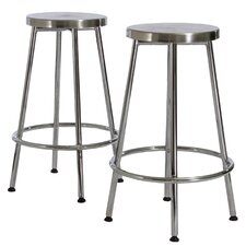 Wilkerson Chrome Barstools (Set of 2) (Set of 2)