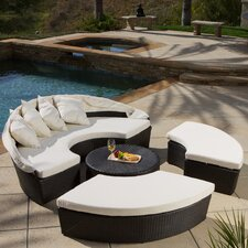 Goleta Cabana / Canopy 4 Piece Set with Beige Cushion