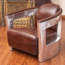 Weatherson Leather and Metal Club Chair