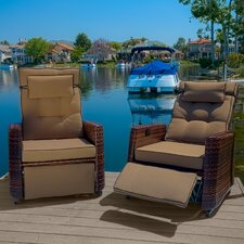Cartegena Outdoor PE Wicker Recliner (Set of 2) (Set of 2)