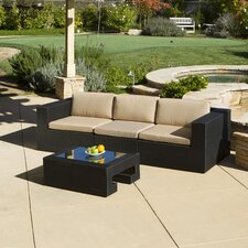 Malaga Outdoor 3 Piece Couch Plus Table