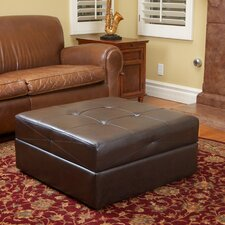 <strong>Home Loft Concept</strong> Burlington Leather Storage Ottoman