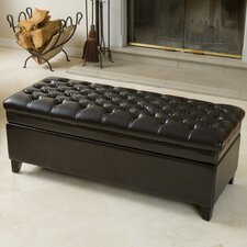 Isaako Tufted Leather Storage Ottoman