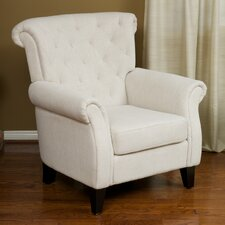 McClain Tufted Fabric Club Chair