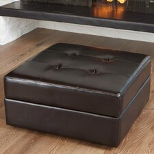 <strong>Home Loft Concept</strong> Chatsworth Leather Storage Ottoman