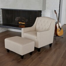 <strong>Home Loft Concept</strong> Elaine Tufted Club Chair and Ottoman