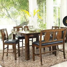 Rancho Cordova 6 Piece Counter Height Dining Set