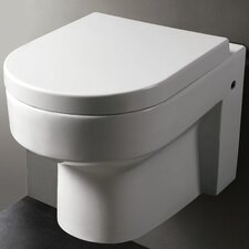 Modern Wall Mount 0.8 GPF / 1.6 GPF Elongated 1 Piece Toilet