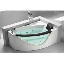 "59"" x 39"" Corner Whirlpool Tub"