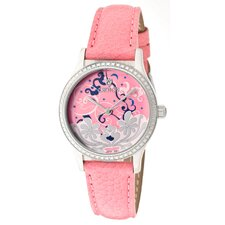 Women's Tropics Flowers and Clouds Round Watch