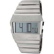 Men's Digi-Man LCD Digital Multi-Function Rectangle Watch