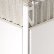 "96"" x 1"" Corner Piece Tile Trim in PVC White"