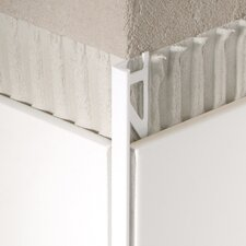 "96"" x 1"" Corner Piece Tile Trim in Aluminum Shiny Silver Anodized"