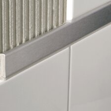 "Decoline 96"" x 1.5"" Bullnose Tile Trim in Brushed"