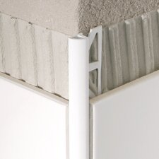 "96"" x 1"" Corner Piece Tile Trim in PVC Jasmin"