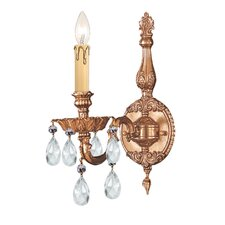 Olde World 1 Light Candle Wall Sconce