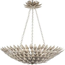 Broche 6 Light Leaf Pendant Chandelier