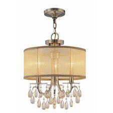 <strong>Crystorama</strong> Hampton 3 Light Chandelier