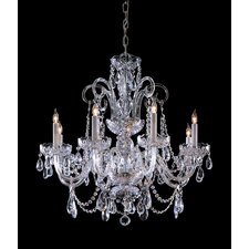 8 Light Chandelier with Swarovski Strass Crystal