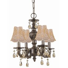 <strong>Crystorama</strong> Sutton 4 Light Mini Chandelier
