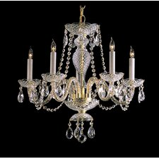 5 Light Chandelier with Swarovski Strass Crystal