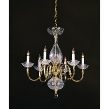 <strong>Crystorama</strong> Historical Brass 6 Light Chandelier