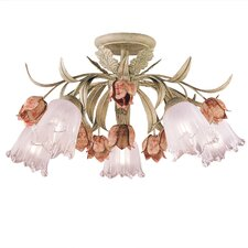 <strong>Crystorama</strong> Southport 5 Light Semi Flush Mount