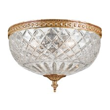 Olde World Crystal 2 Light Flush Mount