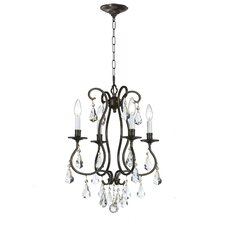 <strong>Crystorama</strong> Ashton 4 Light Mini Chandelier