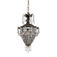 Traditional Classic 1 Light Crystal Chandelier