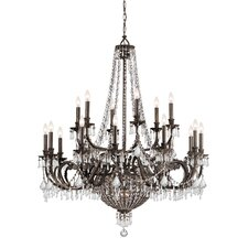 Traditional Classic 23 Light Crystal Candle Chandelier