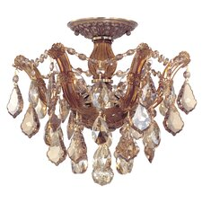 <strong>Crystorama</strong> Maria Theresa 3 Light Semi Flush Mount
