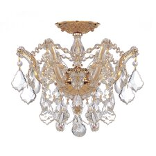 Maria Theresa 3 Light Swarovski Elements Semi Flush