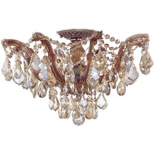 <strong>Crystorama</strong> Maria Theresa 5 Light Semi Flush Mount