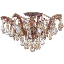 <strong>Crystorama</strong> Maria Theresa 5 Light Swarovski Elements Semi Flush