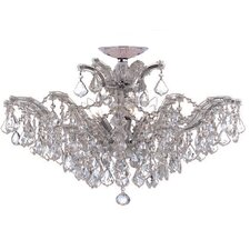 Maria Theresa Six Light Swarovski Elements Chandelier in Polished Chrome