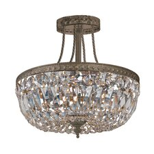 Hot Deal 3 Light Semi Flush Mount