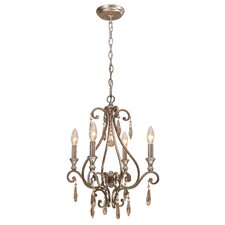 <strong>Crystorama</strong> Shelby 4 Light Chandelier